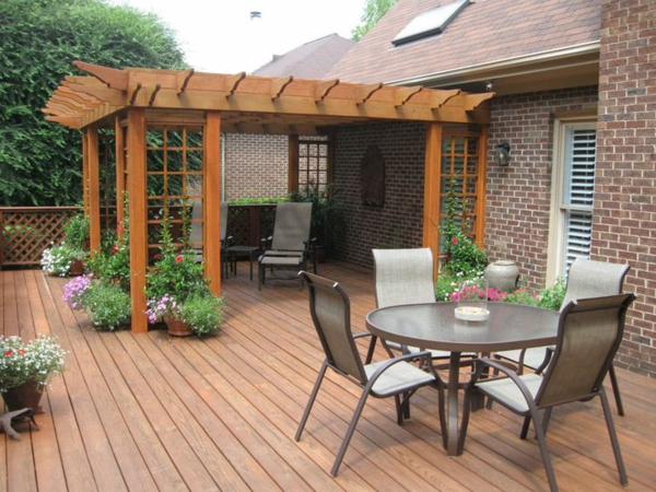 home wooden decking